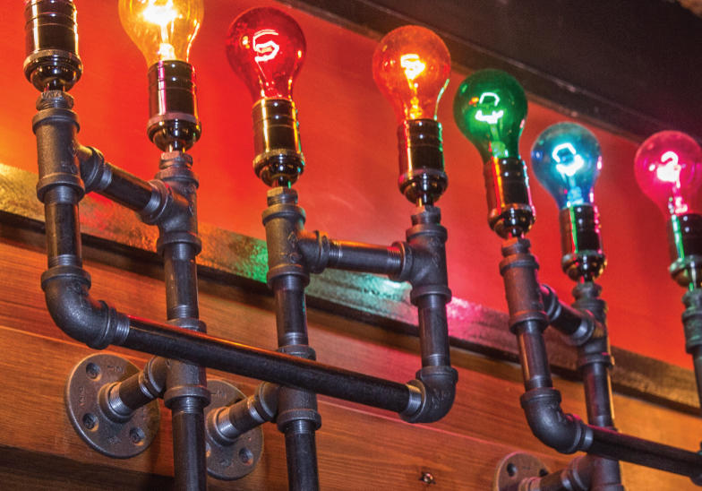 Light detail in the Great Houdini Escape Room